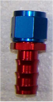 "AN10 - 5/8""  Barbed Hose End Straight"