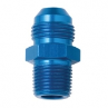 "AN10 male - 1/2"" NPT male fitting. Aluminum"
